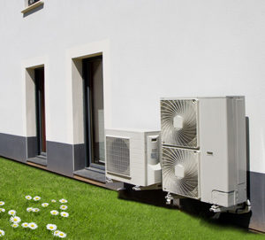 pompe à chaleur air eau sur maison